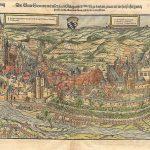 Holzschnitt, Stadtansicht Simmern | Sebastian Münster | Basel 1555