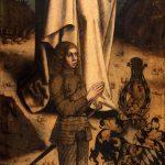 Mittelrheinischer Maler um 1480, Fragment eines Altarflügels mit kniendem Stifter, vermutlich Herzog Johann I. von Pfalz-Simmern, Öl auf Holz, 74 x 53 cm. © Kurpfälzisches Museum der Stadt Heidelberg