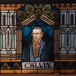 Calvin als Fensterbild in der ev. Kirche von Mörschbach