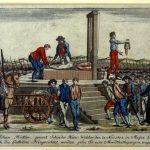 Vorstellung der Hinrichtung des Schinderhannes | Mainz, 1803 | Holzschnitt | Mainz, Stadtarchiv
