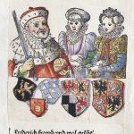 Kurfürst Friedrich III. von Pfalz-Simmern mit seiner ersten Frau Maria und seiner zweiten Frau Amalia