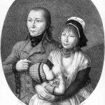 Karl Matthias Ernst: Schinderhannes mit Julchen und Kind | Mainz, 1803 | Kupferstich | Mainz, Stadtarchiv